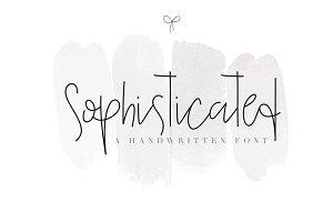 Sophisticated - Handwritten Font