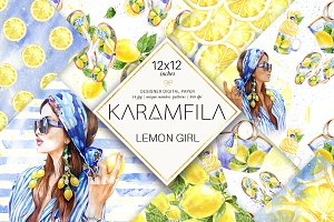 Lemons Patterns Fashion Paper Pack