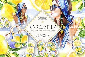 Lemons Clipart Summer Fashion