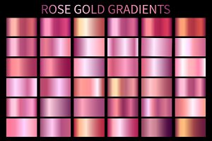 Rose Gold Gradients GRD. AI. Vector