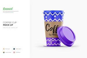 Coffee Cup With Sleeve-3 PSD Mockup