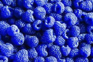 фон синие ягоды малины