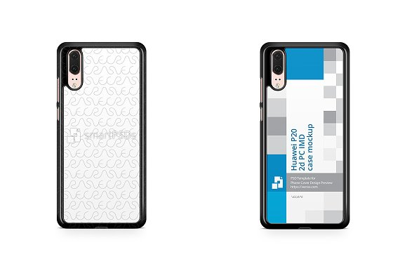 Huawei P20 2d PC Colored Case