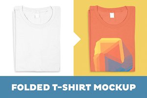 Folded T-Shirt Mockup Template