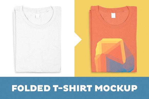 Download Folded T-Shirt Mockup Template