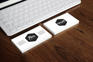 Personal White Business Card
