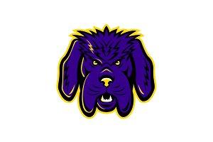Newfoundland Dog Mascot Angry