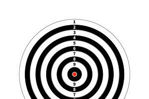 Score target for shooting practice