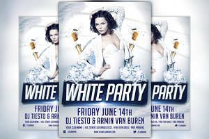 White Party Flyer Template