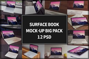 Microsoft Surface Book Mock-up Pack