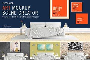 Art Mockup Scene Creator - Bed1