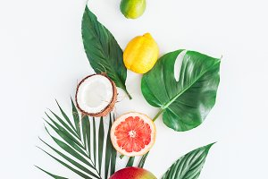 Summer tropical composition