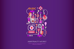 Abstract Music vector design