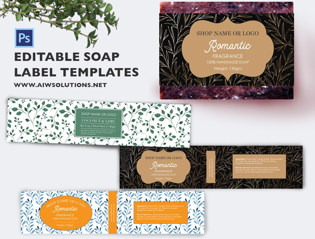 soap label template id49 stationery templates creative market