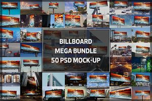 50 Billboard Mock-up Mega Bundle#1