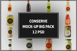Conserve Bottles Mock-up Bigpack