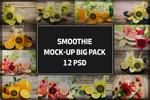 Friut Smoothie Mock-up Bigpack