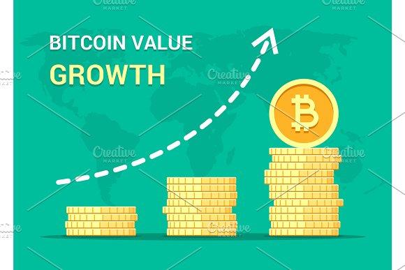 Bitcoin Value Growth Concept