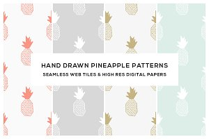 Morden Pineapple Seamless Patterns