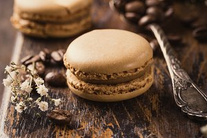 French coffee macarons