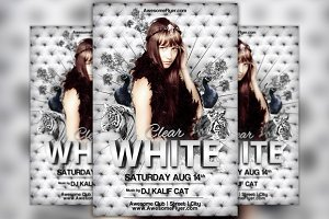 White Tiger Club Party Flyer Templat