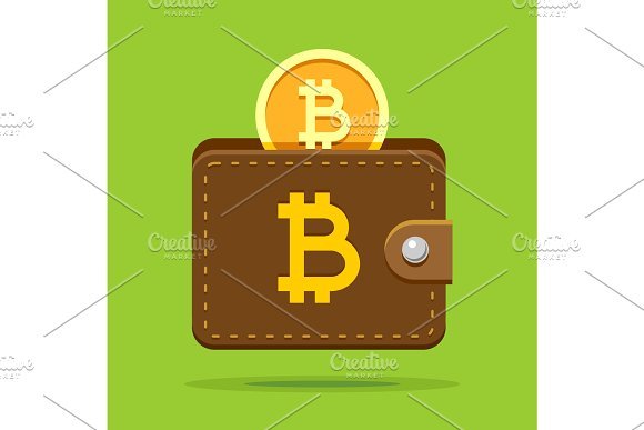 Bitcoin Crypto Wallet From Leather