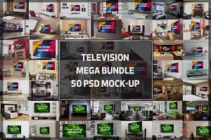 MEGABUNDLE! 50 TV Display Mock-up