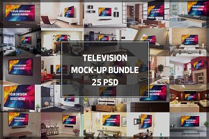 Television Display Mock-up Bundle#2