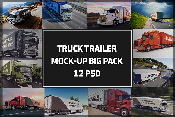 Download Truck Trailer Mock-up Bigpack#2