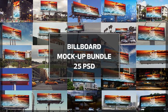 Billboard Mock-up Bundle #1