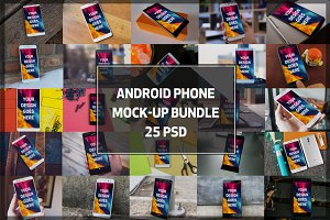 Android Phone Mock-up Bundle#2