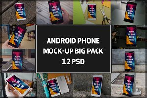 Android Phone Mock-up BigPack#3
