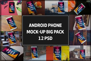 Android Phone Mock-up BigPack#4