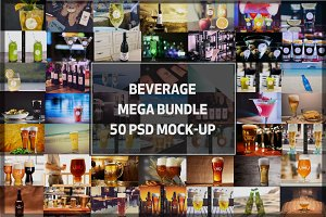 MEGA BUNDLE! - 50 Beverage Mock-up