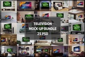 BUNDLE - 25 Television Mock-up