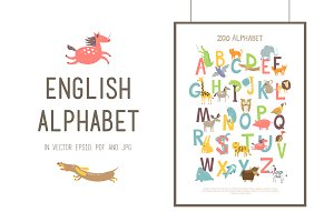 ZOO ENGLISH ALPHABET