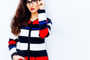 Brunette Girl in stylish Eyewear