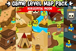 Game Level Map Pack - Horizontal Mod