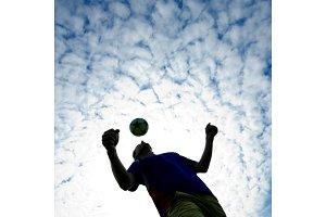 Man playing Soccer