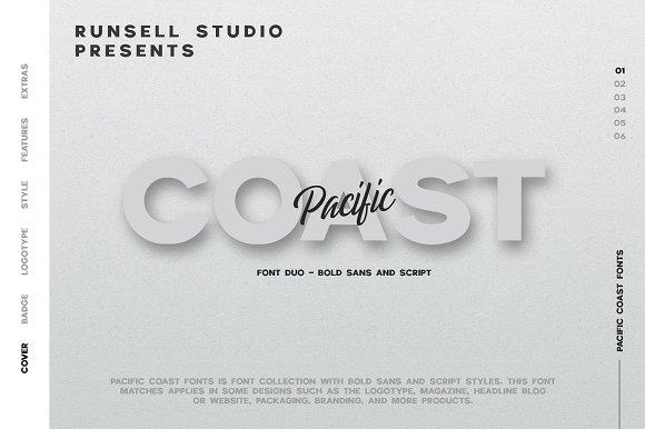 PACIFIC COAST Font Extras