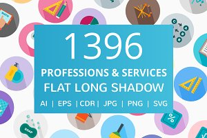 1396 Professions Long Shadow Icons