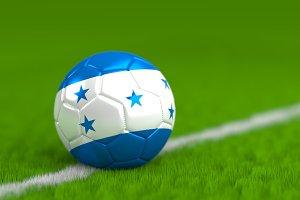 Soccer Ball With Honduran Flag 3D Render