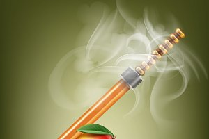 Electronic hookah with mango