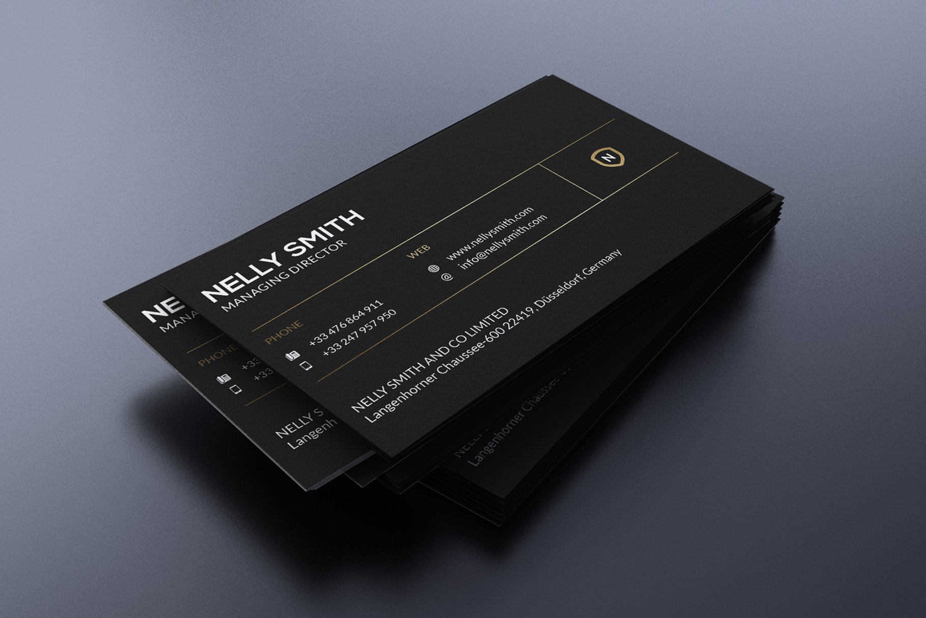 Black Business Card ~ Business Card Templates ~ Creative Market