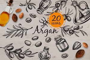 Argan - hand drawn illustrations