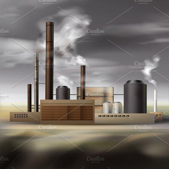 Chemical Factory Smoke