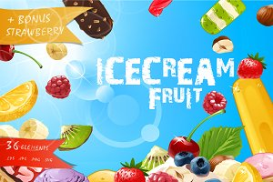 36 ICE CREAM elements