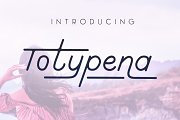 Totypena extended serif