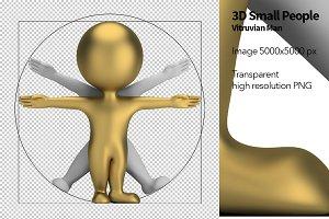 3D Small People - Vitruvian Man