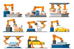Industrial Process Elements Set